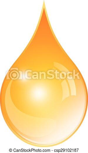 Oil yellow drop - csp29102187