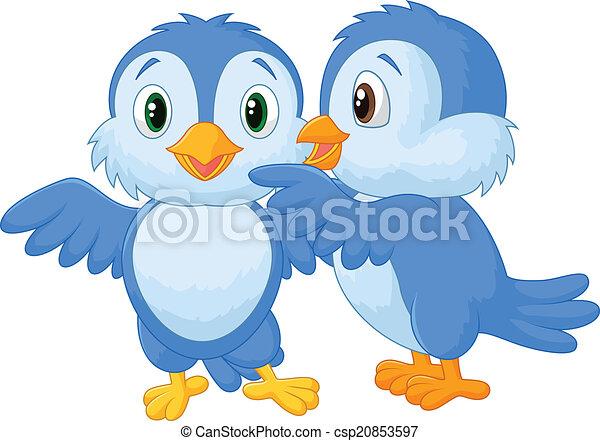oiseau, chuchotement, dessin animé - csp20853597