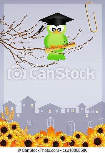 oiseau, diplômé - csp18868586