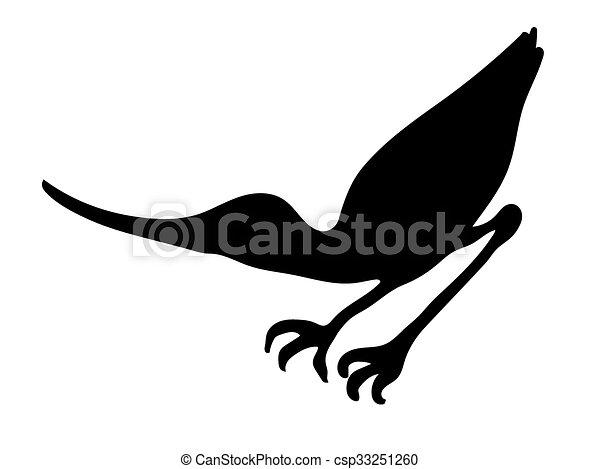 oiseau, silhouette, vecteur, bécasseau - csp33251260