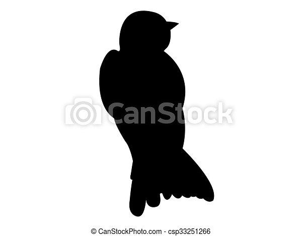 oiseau, vecteur, silhouette, hirondelle - csp33251266