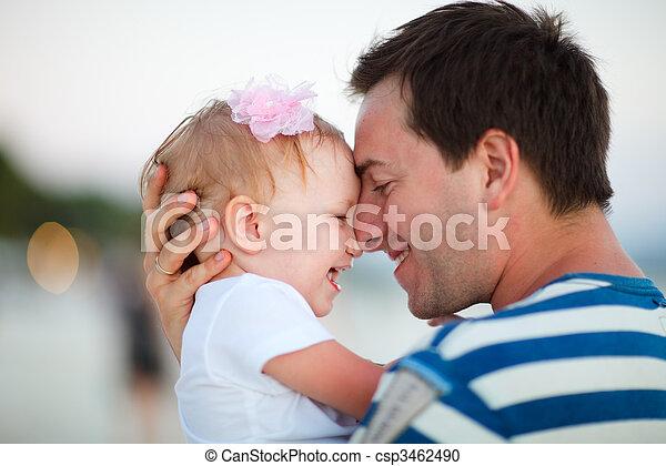 ojciec, córka - csp3462490
