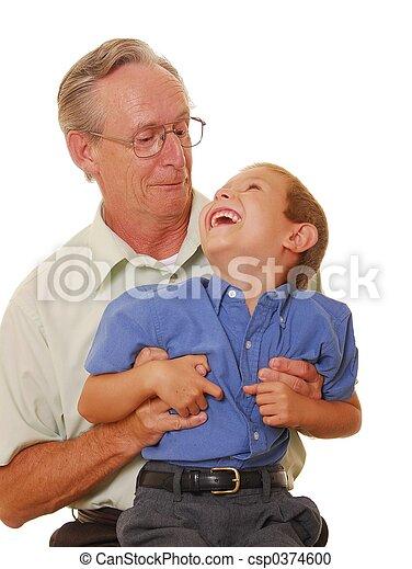 ojciec, &, dziewięć, syn - csp0374600