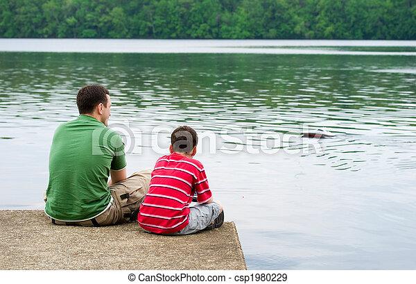 ojciec, syn - csp1980229