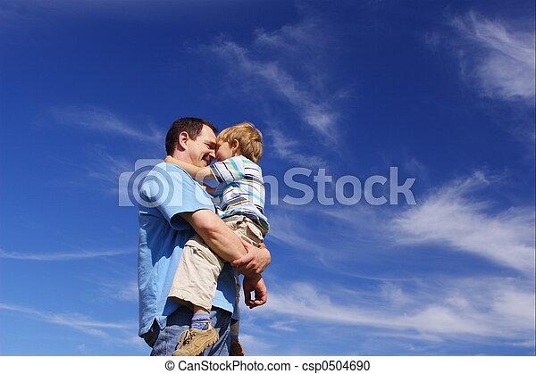ojciec, syn - csp0504690