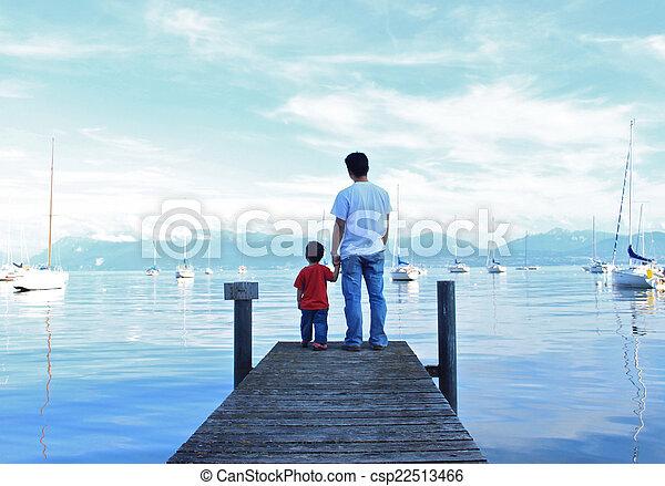 &, ojciec, syn - csp22513466