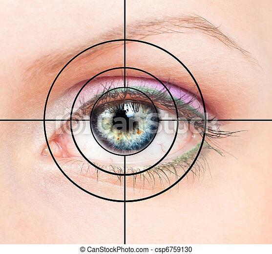 ojo, blanco, humano - csp6759130
