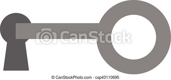 Llave en la cerradura - csp43110695