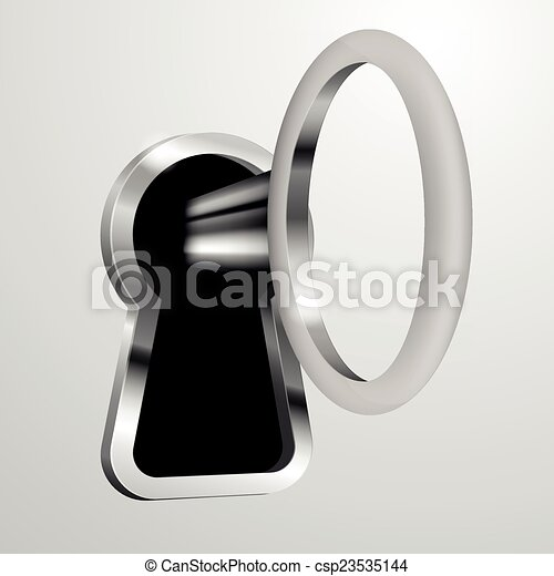 Llave en la cerradura - csp23535144