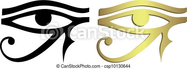 Ojo de Horus en negro y dorado - csp10130644