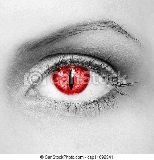 ojo, vampiro - csp11692341