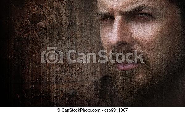 Un retrato artístico de hombre genial con ojos bonitos - csp9311067
