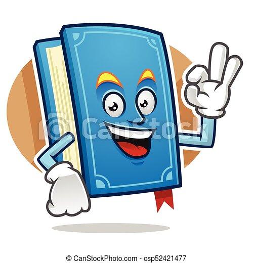Ok Book Mascot Book Character Book Cartoon