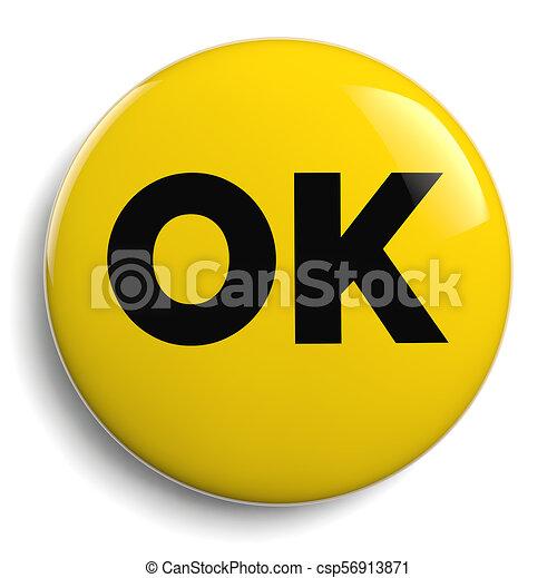 OK Yellow Icon Symbol - csp56913871