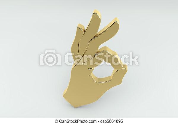 OK/Correct hand sign  - csp5861895
