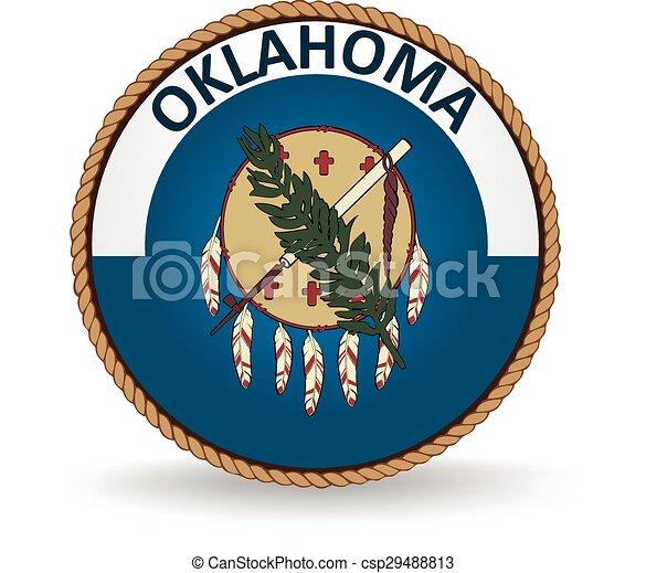 El sello estatal de Oklahoma - csp29488813