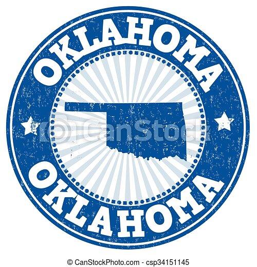 Oklahoma grunge stamp - csp34151145