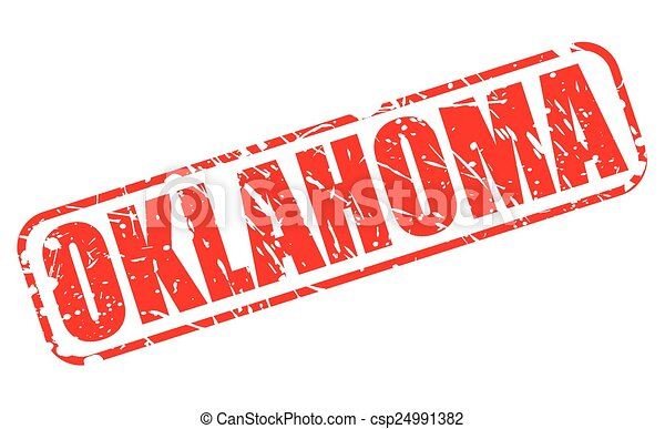 Oklahoma red stamp text - csp24991382