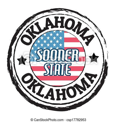 Oklahoma, Sooner State stamp - csp17782953