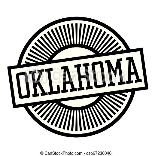 OKLAHOMA stamp on white - csp67236046