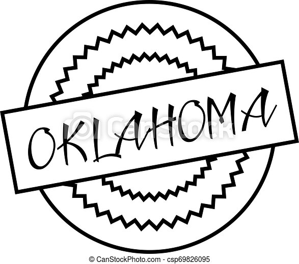 OKLAHOMA stamp on white isolated - csp69826095