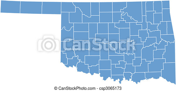 State Map Oklahoma.Oklahoma State Map