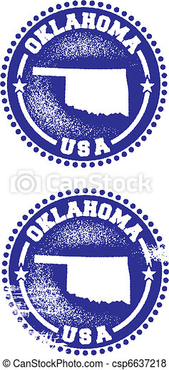 Oklahoma USA Stamps - csp6637218
