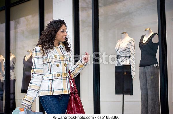 okno shopping - csp1653366