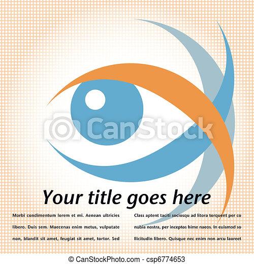 oko, design., uderzający - csp6774653