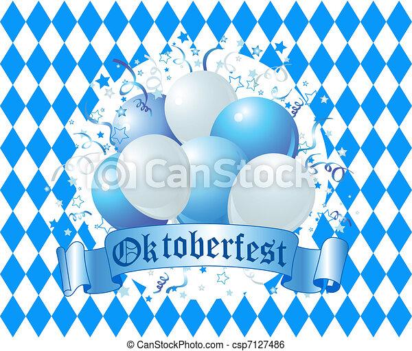 oktoberfest, balões, celebração - csp7127486