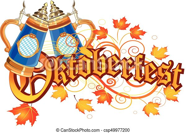 oktoberfest celebration design with glass of beer autumn vector rh canstockphoto com oktoberfest clipart free oktoberfest clip art free