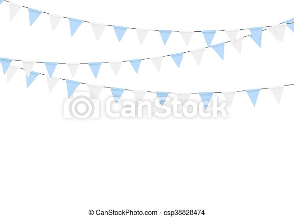 Oktoberfest decoration in traditional colors of Bavaria. - csp38828474