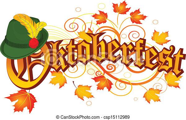 oktoberfest, desenho, celebração - csp15112989