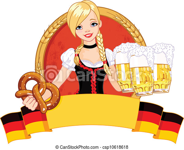 Oktoberfest girl design  - csp10618618