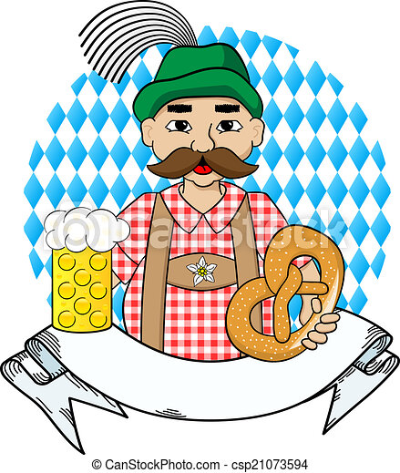 oktoberfest man with beer pretzel and banner vector eps vectors rh canstockphoto com oktoberfest clipart kostenlos oktoberfest clipart kostenlos