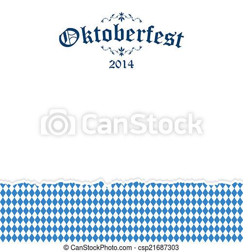 Historial del Oktoberfest con texto Oktoberfest 2014 - csp21687303