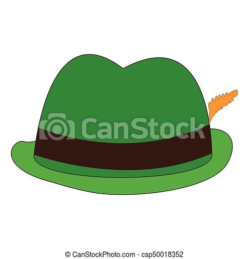 Oktoberfest traditional hat. Isolated oktoberfest traditional hat on ... 9fad8b813e0
