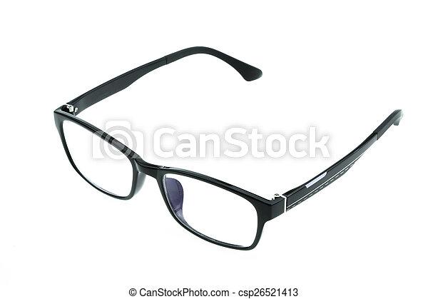 okulary, do góry, odizolowany, zamknięcie, oko - csp26521413