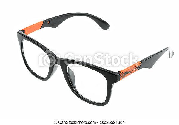 okulary, do góry, odizolowany, zamknięcie, oko - csp26521384