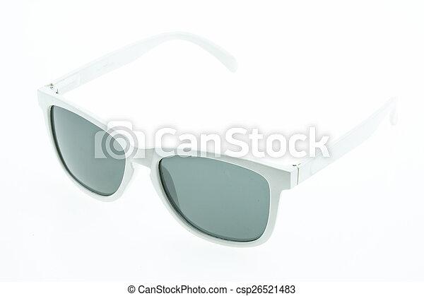 okulary, do góry, odizolowany, zamknięcie, oko - csp26521483