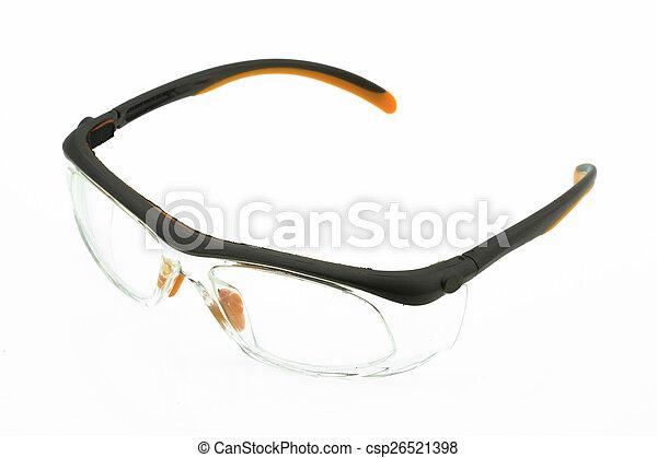okulary, do góry, odizolowany, zamknięcie, oko - csp26521398