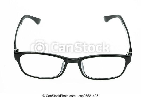 okulary, do góry, odizolowany, zamknięcie, oko - csp26521408