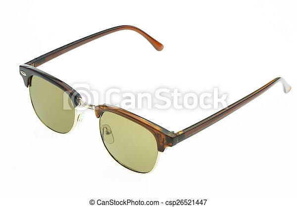 okulary, do góry, odizolowany, zamknięcie, oko - csp26521447