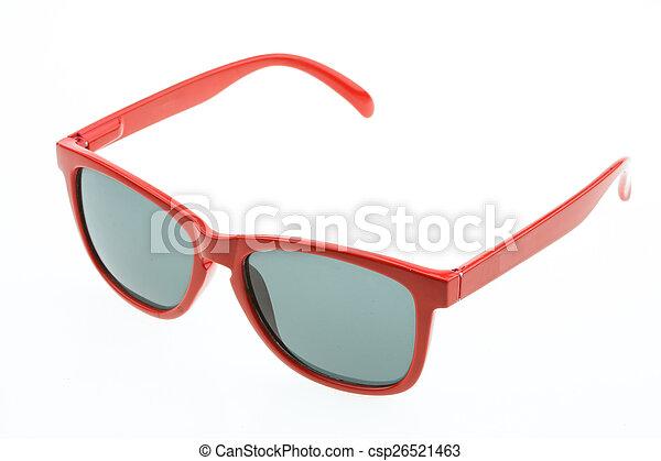 okulary, do góry, odizolowany, zamknięcie, oko - csp26521463