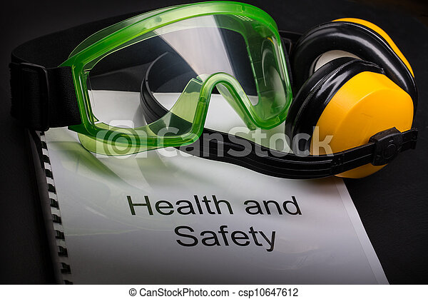 okulary ochronne, zdrowie, rejestr, bezpieczeństwo, earphones - csp10647612
