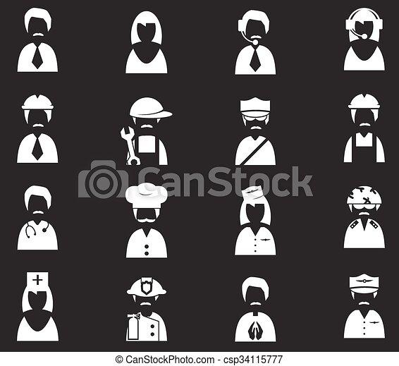 okupacja, komplet, ikony - csp34115777