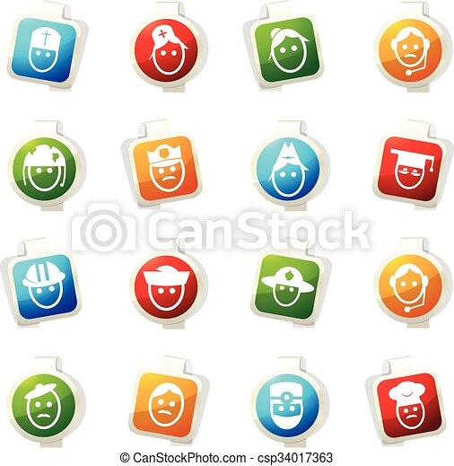 okupacja, komplet, ikony - csp34017363