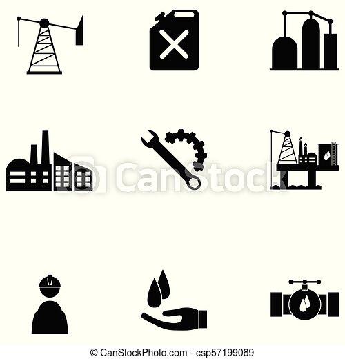 olaj, állhatatos, ikon - csp57199089
