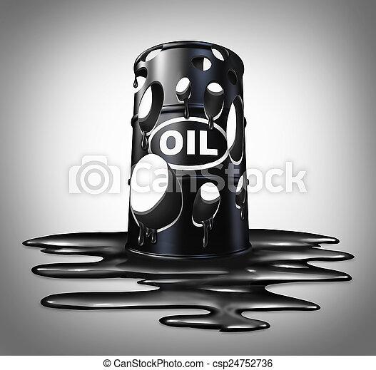 olaj, összeomlás - csp24752736