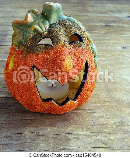 Halloween calabaza Jack O'lantern - csp15404540